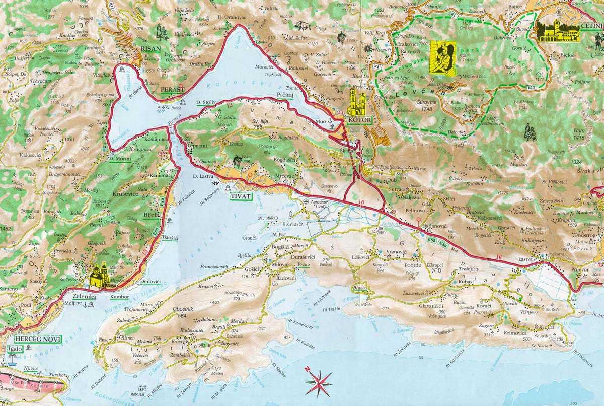 herceg novi mapa Mapa Herceg Novog   HercegNovi.biz herceg novi mapa